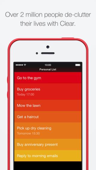 Clear для iOS