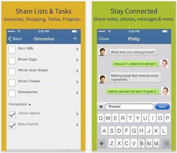 Календарь Hub Family Organizer iphone ipad