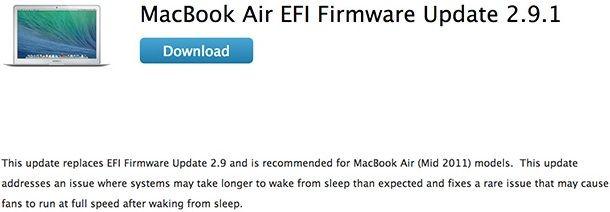 Macbook Air EFI обновление