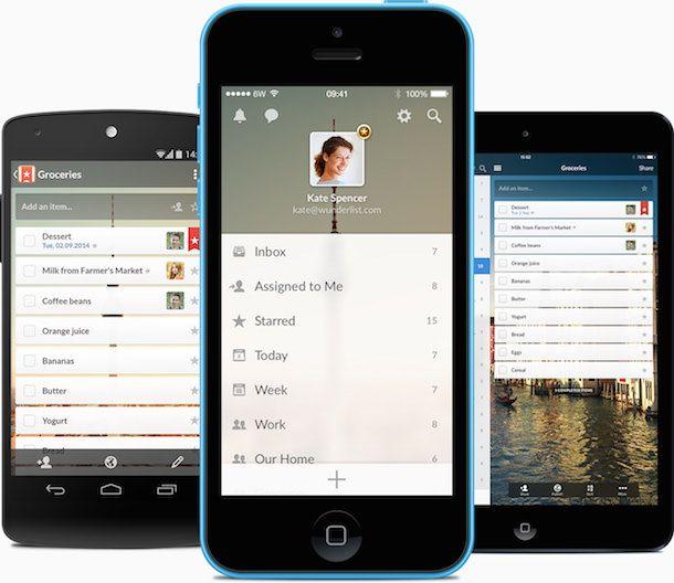 органайзер Wunderlist 3 для iPhone и iPad