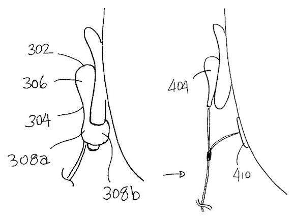 патент на наушники Earpods Apple