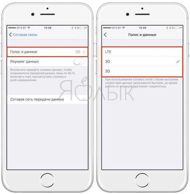 Как включить мобильный интернет на iPhone, iPad