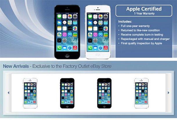 Восстановленные iPhone 5 доступны на eBay