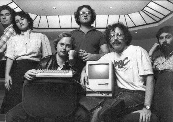 Команда дизайнеров, работавшая над Macintosh