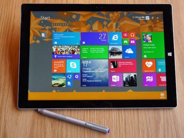 Windows 8.1 на Microsoft Surface Pro 3