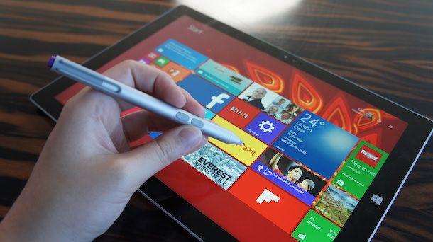 Стилус на Microsoft Surface Pro 3