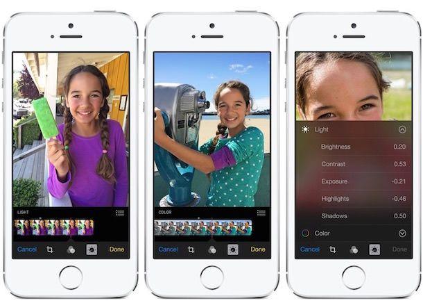 Фото в iOS 8 на iPhone