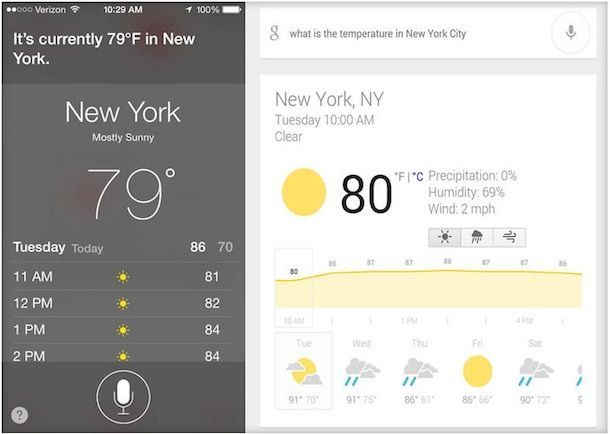 Siri и Google Now что лучше