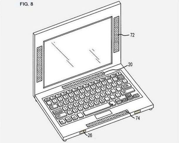Система объемного звучания для MacBook Pro – новый патент Apple