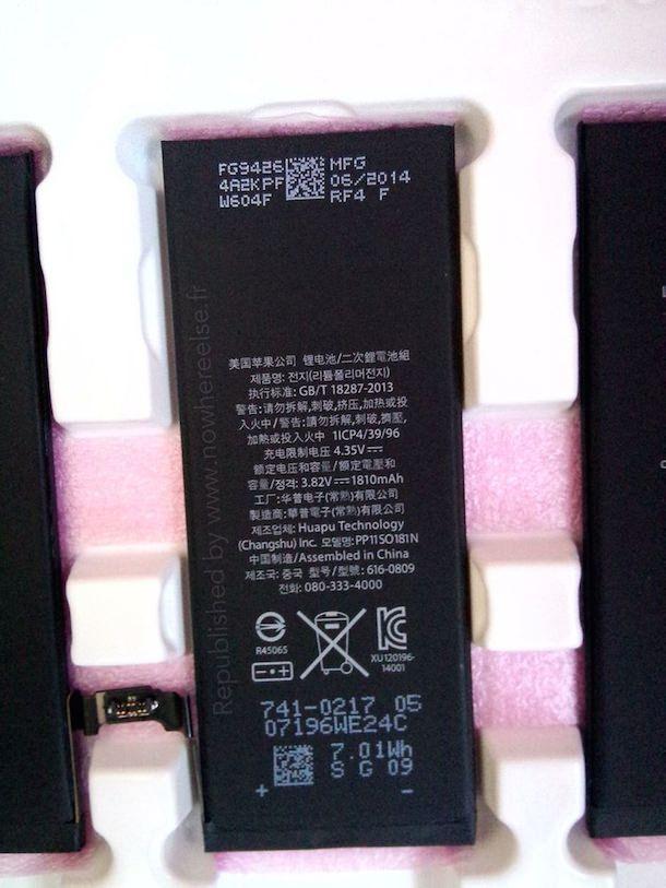 батарея 4,7-дюймового iPhone 6