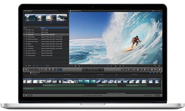 final cut pro Retina Mac Book Pro 15