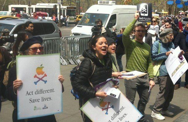 Протест Green America в связи с применением Apple в производстве опасных химвеществ