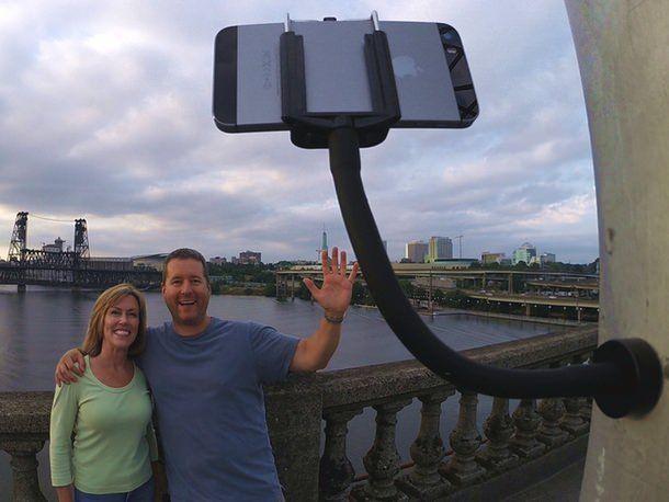 GripSnap – универсальный монопод с магнитным основанием для смартфонов и GoPro