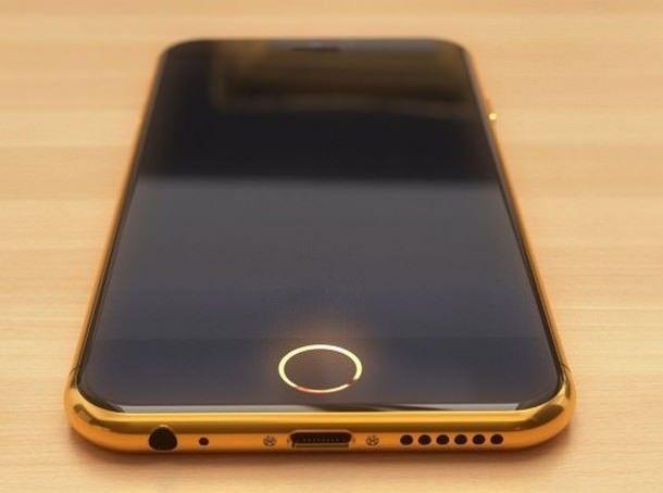 Концепт золотого, инкрустированного бриллиантами iPhone 6, от голландского дизайнера