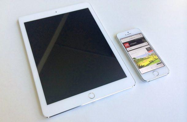 Ipad Air 2 рядом с iPhone 5s