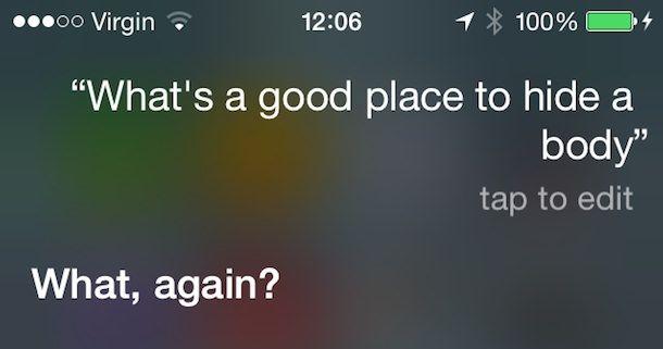 Siri и интересный вопрос