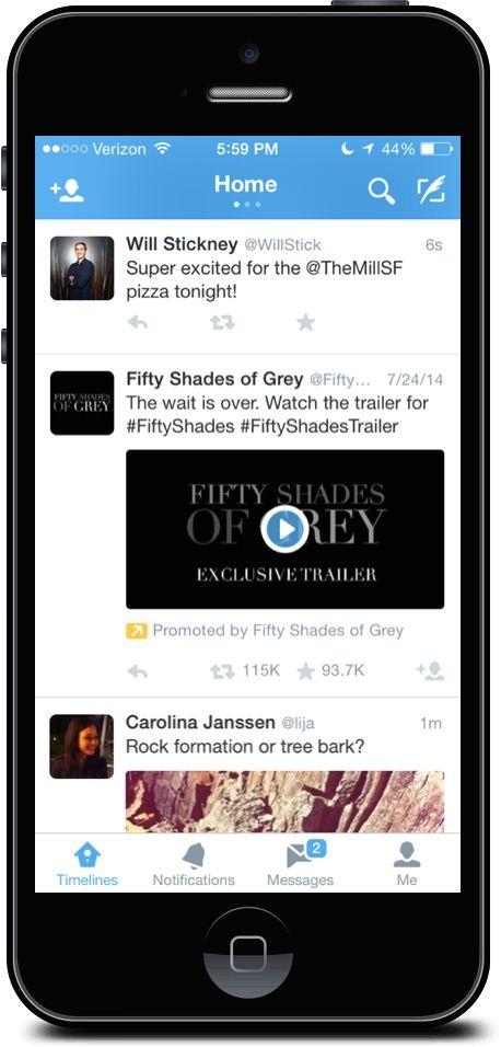 видео реклама в твиттер для iPhone и iPad