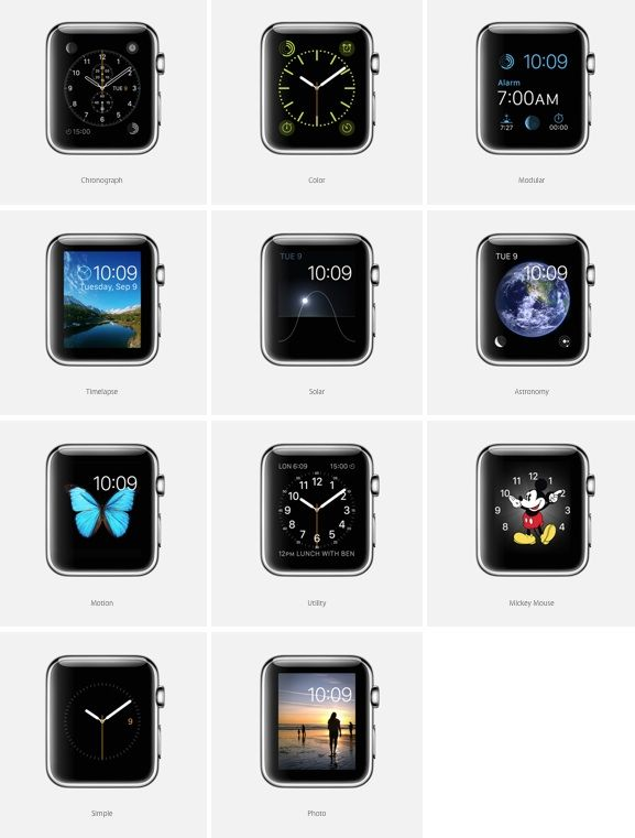 Apple Watch заставки