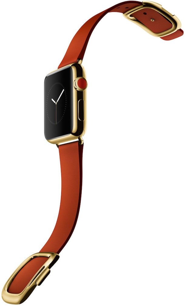 Apple Watch edition gold red