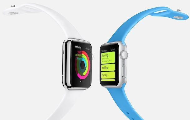 Apple Watch health fitness white blue