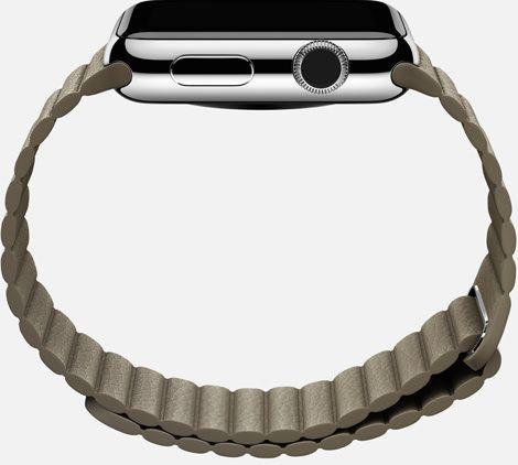 Apple Watch leather loop side