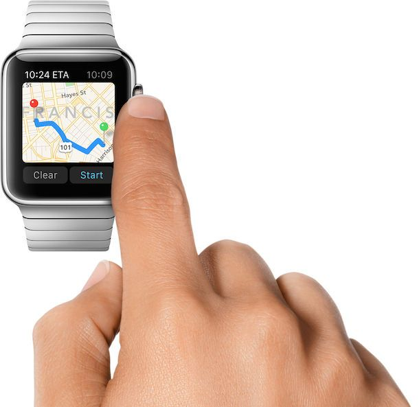 Apple Watch maps crown