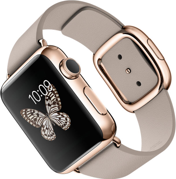 Apple Watch pink gold leather
