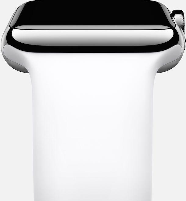 Apple Watch sport band side