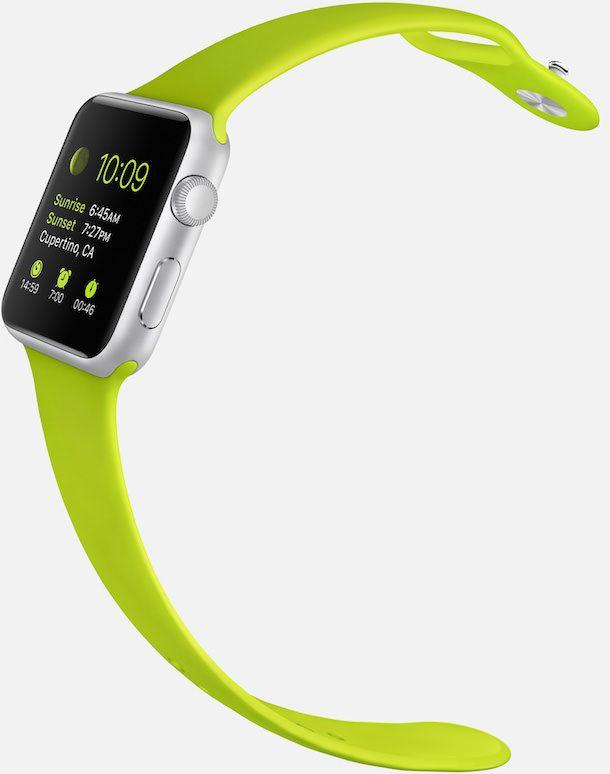 Apple Watch sport green modern buckle