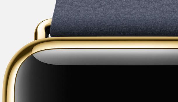 Apple Watch yellow gold black clasp