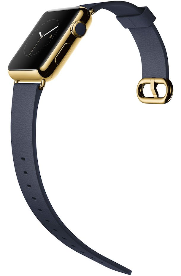 Apple Watch yellow gold black clasp