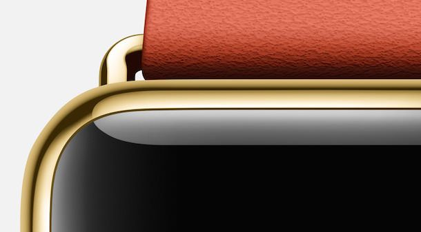 Apple Watch yellow gold red clasp