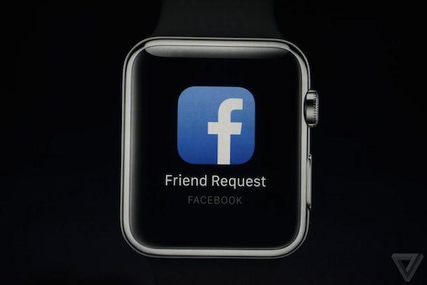 Facebook на Apple Watch