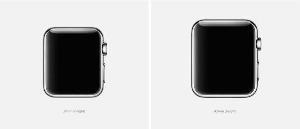 Apple Watch размеры