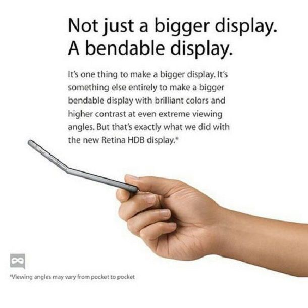 Гнутый айфон реклама