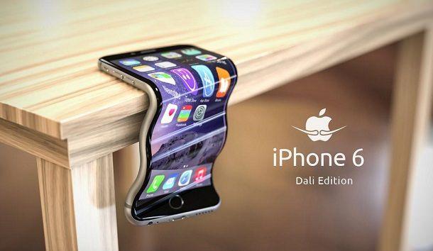 Гнутый айфон Дали