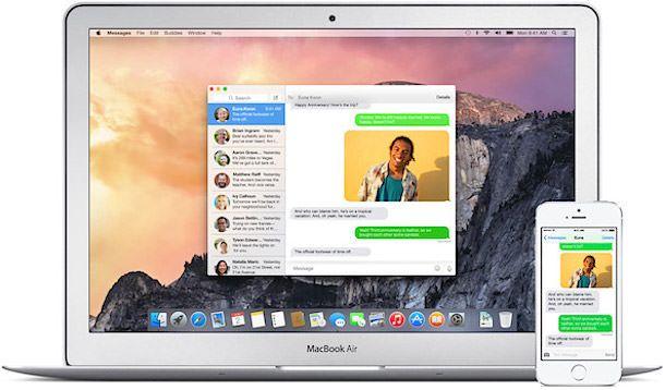 СМС с iPhone на Mac