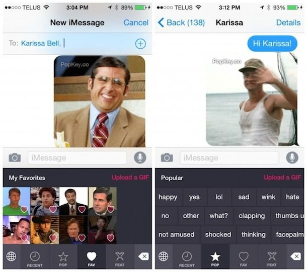 PopKey - клавиатура для iPhone и iPad с Gif вставками