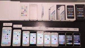 Все модели iPhone на одной картинке