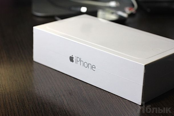 Распаковка iPhone 6 Plus