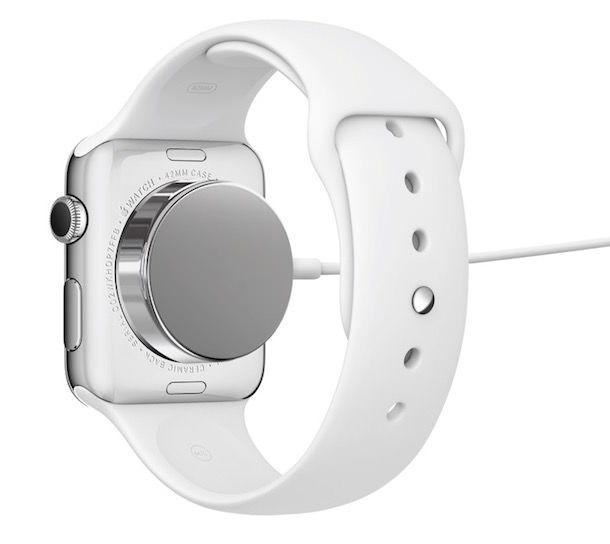 Часы Apple Watch - беспроводная зарядка