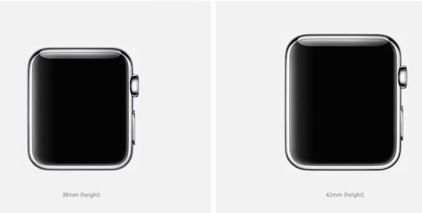 Часы Apple Watch размеры