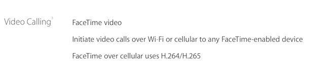 видеозвонки facetime на iPhone 6