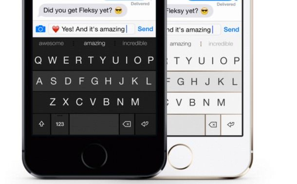 Fleksy - виртуальная клавиатура для iPhone и iPad