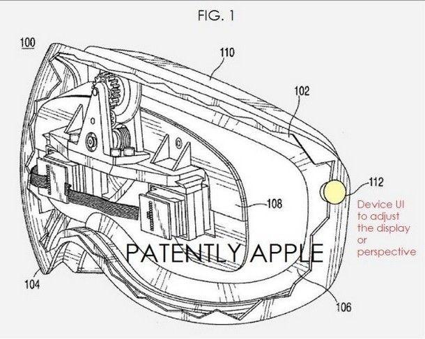 Патент видеогарнитуры Apple