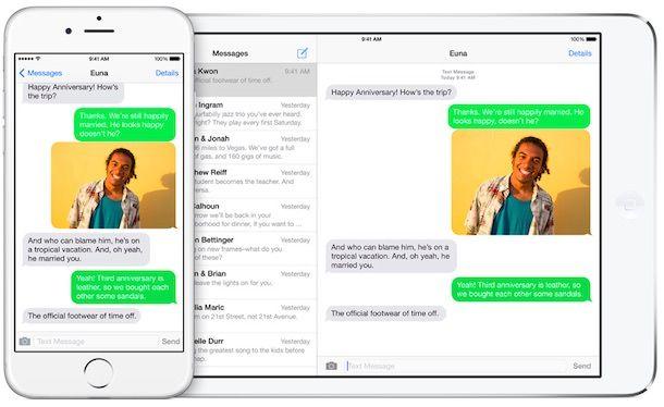 SMS с iPhone на iPad