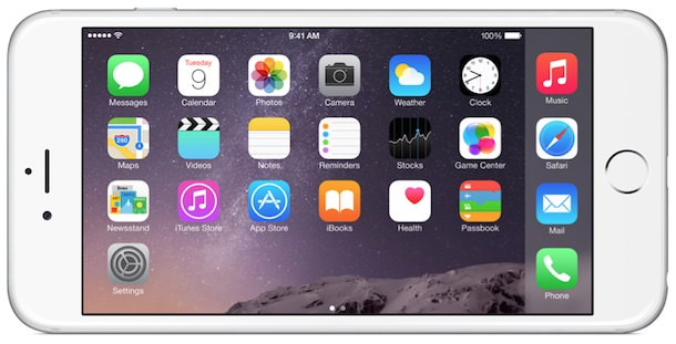 iPhone 6 Plus Home landscape