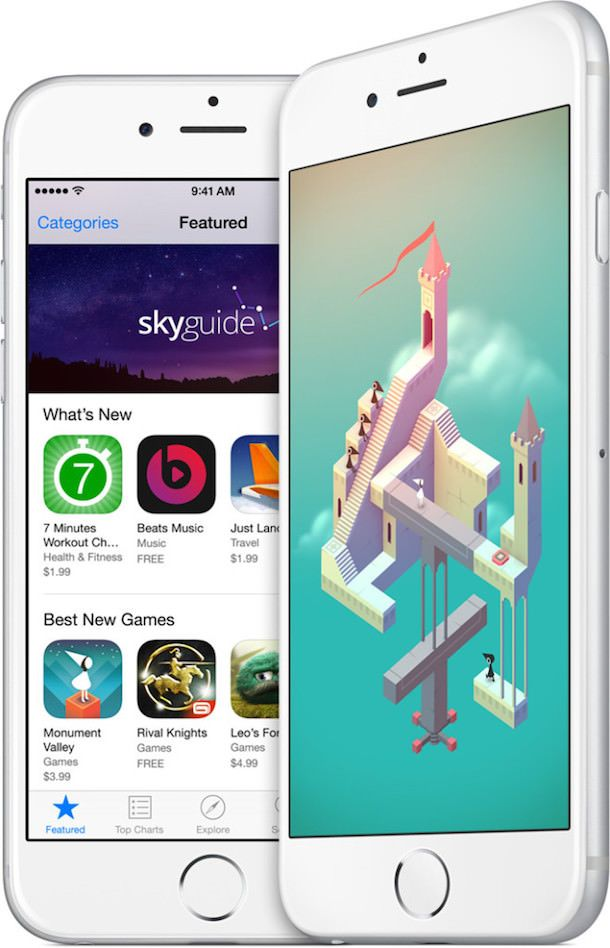 iPhone 6 apps tall