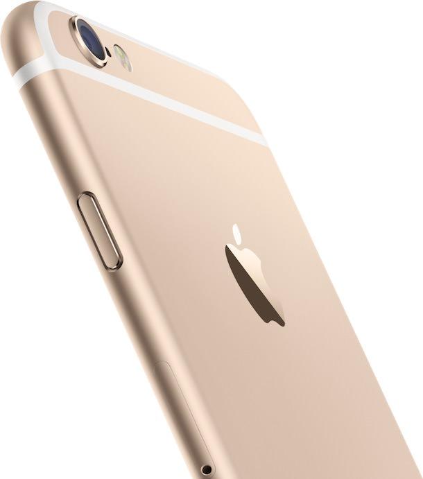 iPhone 6 gold back camera