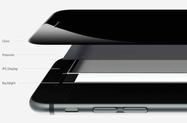 iPhone 6 inside view retina hd display